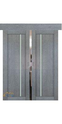 Двойная раздвижная дверь 2.70XN грувд, стекло графит