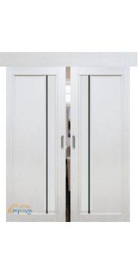 Двойная раздвижная дверь 2.70XN монблан, стекло матовое