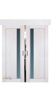Двойная раздвижная дверь 2.71XN монблан, стекло матовое