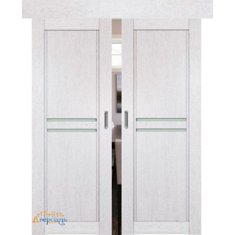 Двойная раздвижная дверь 2.75XN монблан, стекло матовое