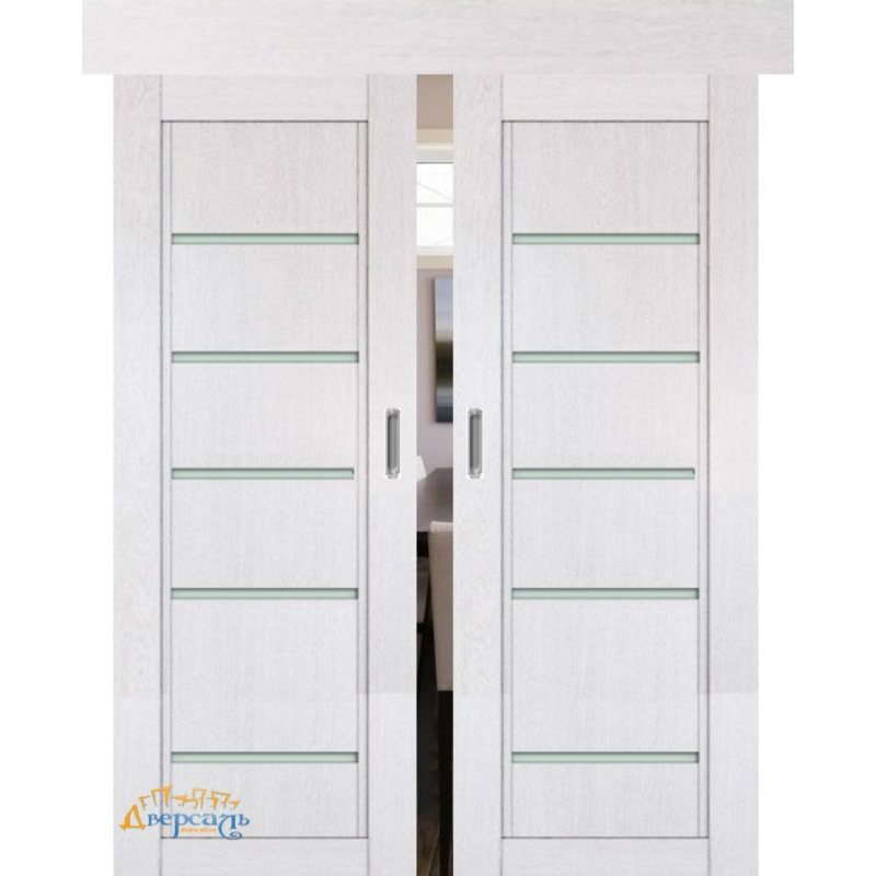 Двойная раздвижная дверь 2.76XN монблан, стекло матовое