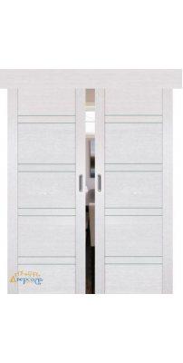 Двойная раздвижная дверь 2.80XN монблан, стекло матовое