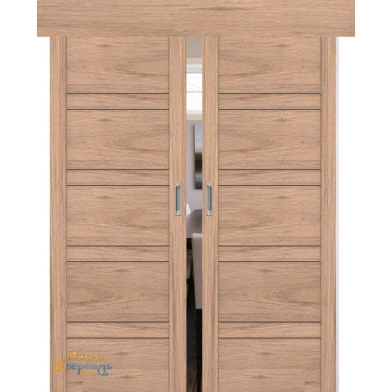 Двойная раздвижная дверь 2.80XN солинас светлый, стекло матовое
