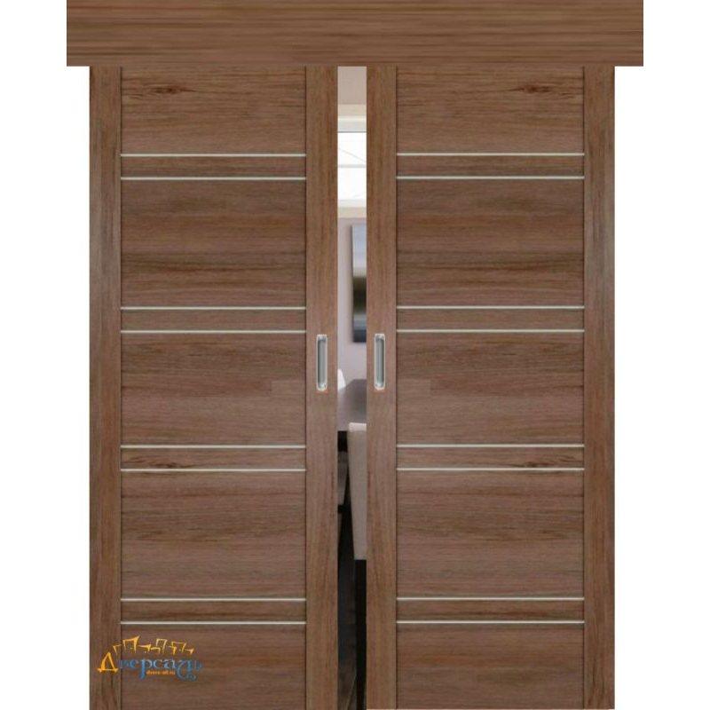 Двойная раздвижная дверь 2.80XN солинас темный, стекло матовое