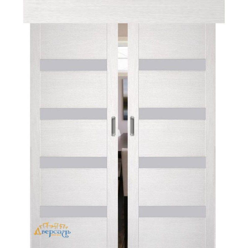 Двойная раздвижная дверь 2.81XN монблан, стекло матовое