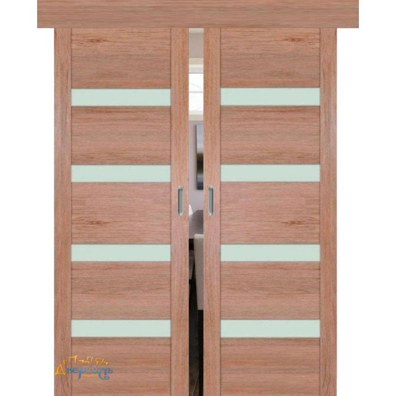 Двойная раздвижная дверь 2.81XN солинас светлый, стекло матовое