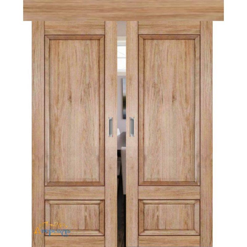 Двойная раздвижная дверь 2.89XN солинас светлый, глухая