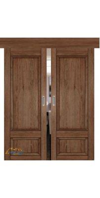 Двойная раздвижная дверь 2.89XN солинас темный, глухая