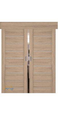 Двойная раздвижная дверь 98XN солинас светлый, стекло матовое