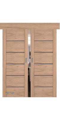 Двойная раздвижная дверь 99XN солинас светлый, стекло матовое