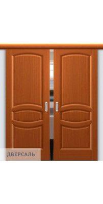 Двойная раздвижная дверь АНАСТАСИЯ тёмный анегри ПГ