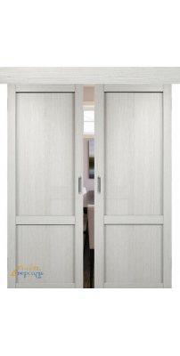 Двойная раздвижная дверь БАДЕН 03 слоновая кость ПГ