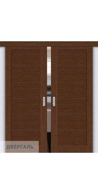 Двойная раздвижная дверь Легно-21 brown oak