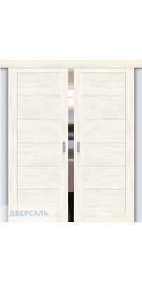 Двойная раздвижная дверь Легно-21 nordic oak