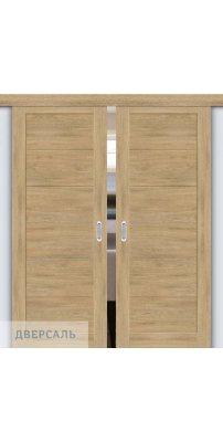 Двойная раздвижная дверь Легно-21 organic oak