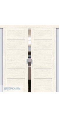 Двойная раздвижная дверь Легно-22 nordic oak/magic fog