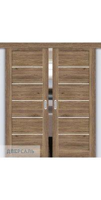 Двойная раздвижная дверь Легно-22 original oak/magic fog