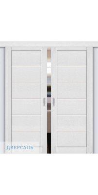 Двойная раздвижная дверь Легно-22 virgin/magic fog