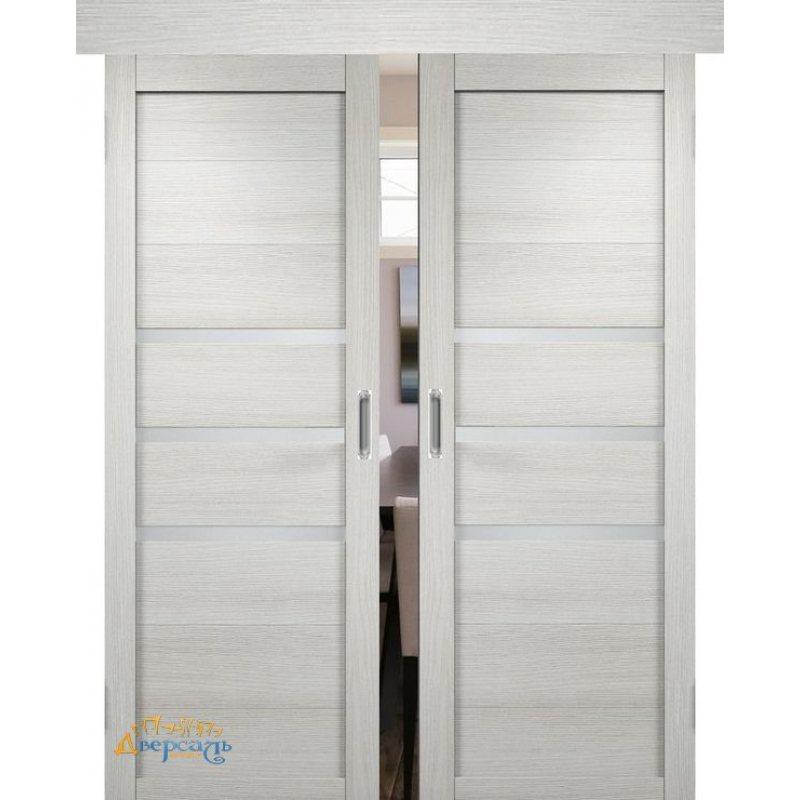 Двойная раздвижная дверь МЮНХЕН 01 слоновая кость ПО