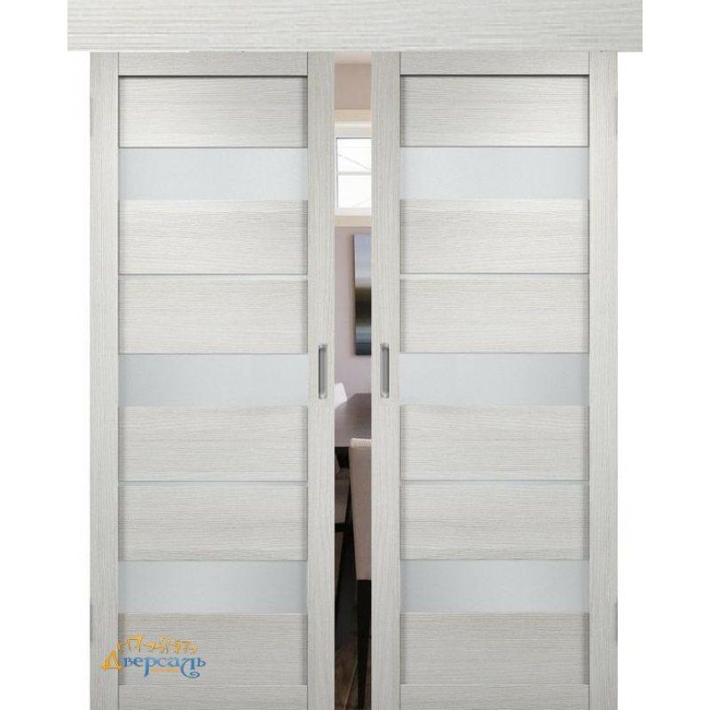 Двойная раздвижная дверь МЮНХЕН 02 слоновая кость ПО