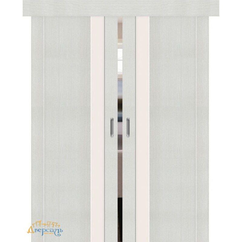 Двойная раздвижная дверь ПОРТА-11 bianco veralinga