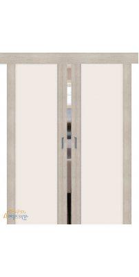 Двойная раздвижная дверь ПОРТА-13 cappuccino veralinga