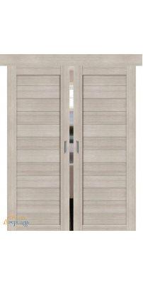 Двойная раздвижная дверь ПОРТА-21 cappuccino veralinga