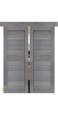 Двойная раздвижная дверь ПОРТА-21 grey veralinga