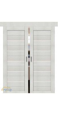 Двойная раздвижная дверь ПОРТА-22 bianco veralinga
