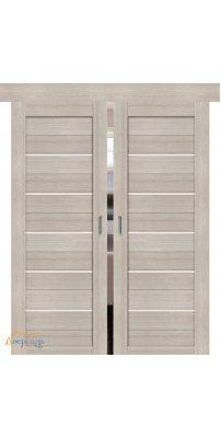 Двойная раздвижная дверь ПОРТА-22 cappuccino veralinga