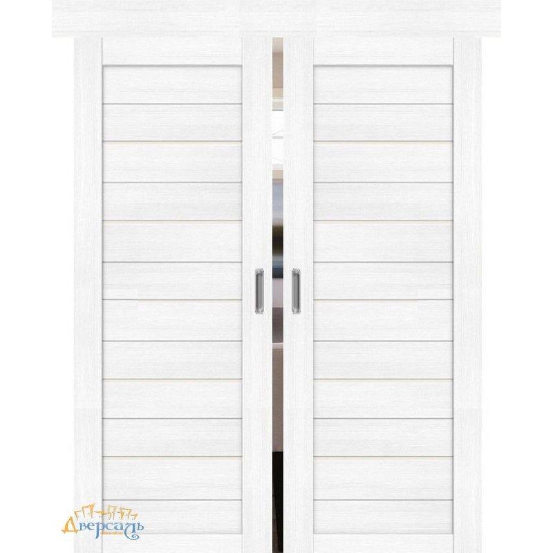 Двойная раздвижная дверь ПОРТА-22 snow veralinga
