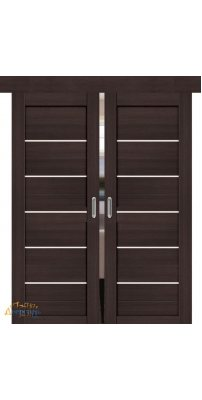 Двойная раздвижная дверь ПОРТА-22 wenge veralinga