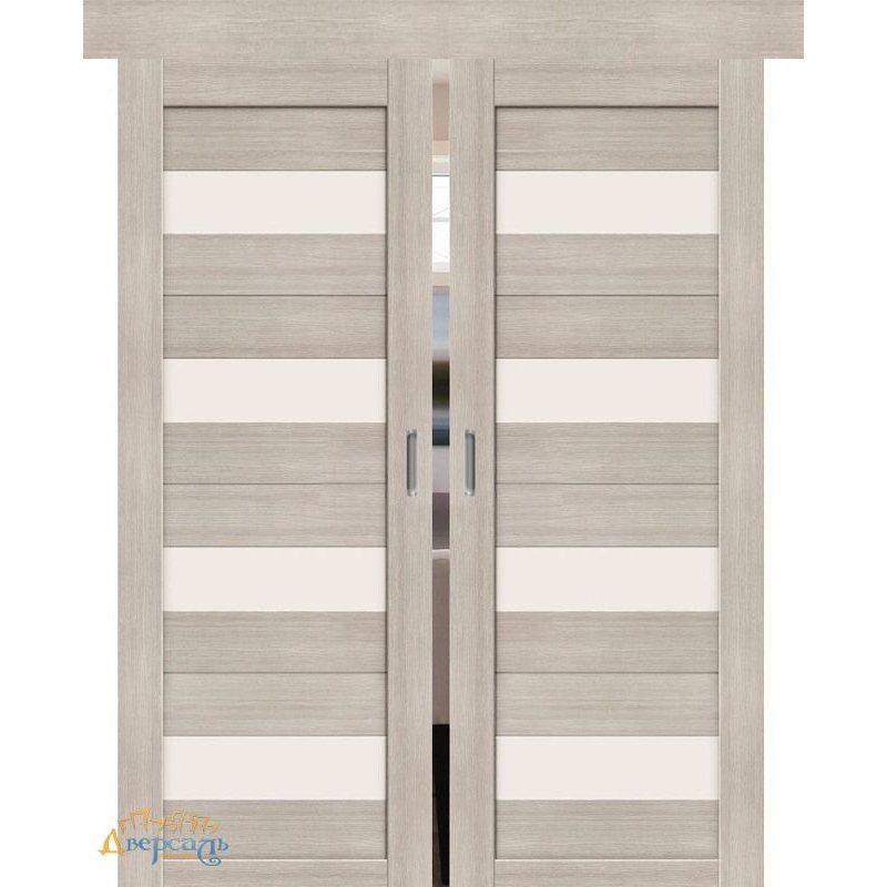 Двойная раздвижная дверь ПОРТА-23 cappuccino veralinga