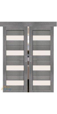 Двойная раздвижная дверь ПОРТА-23 grey veralinga