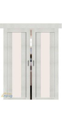 Двойная раздвижная дверь ПОРТА-25 alu bianco veralinga