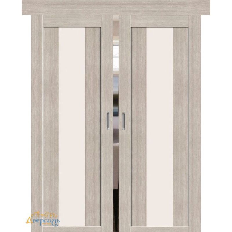 Двойная раздвижная дверь ПОРТА-25 alu cappuccino veralinga