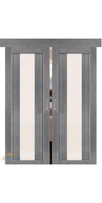 Двойная раздвижная дверь ПОРТА-25 alu grey veralinga