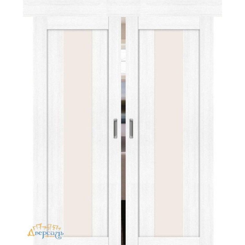 Двойная раздвижная дверь ПОРТА-25 alu snow veralinga