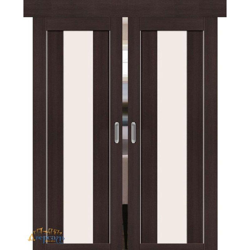 Двойная раздвижная дверь ПОРТА-25 alu wenge veralinga