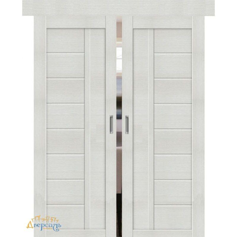 Двойная раздвижная дверь ПОРТА-26 bianco veralinga