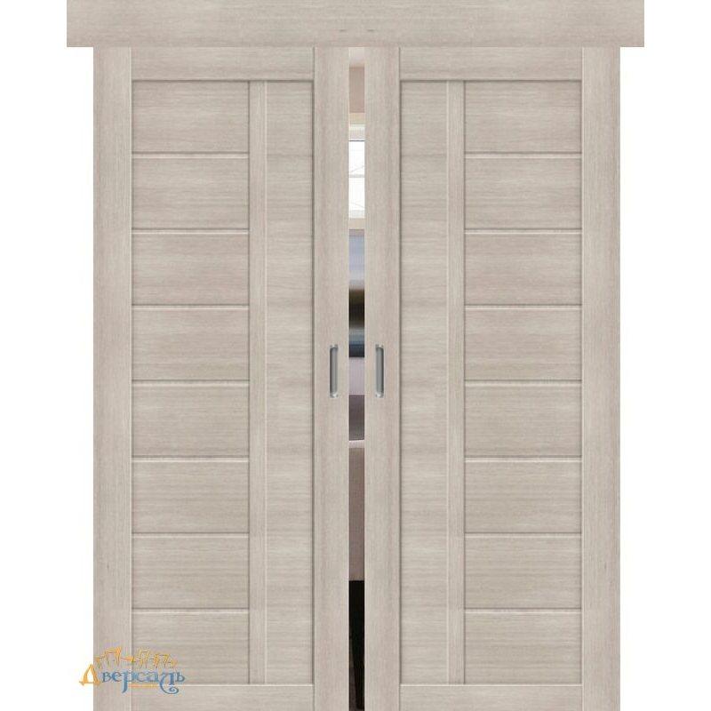 Двойная раздвижная дверь ПОРТА-26 cappuccino veralinga