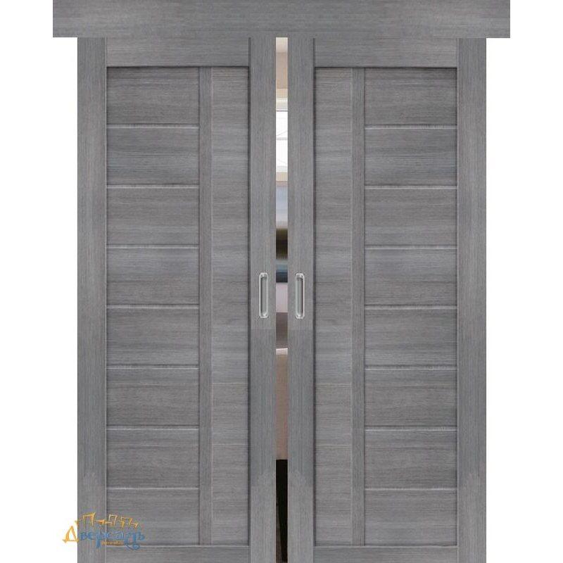 Двойная раздвижная дверь ПОРТА-26 grey veralinga