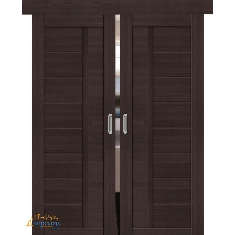 Двойная раздвижная дверь ПОРТА-26 wenge veralinga