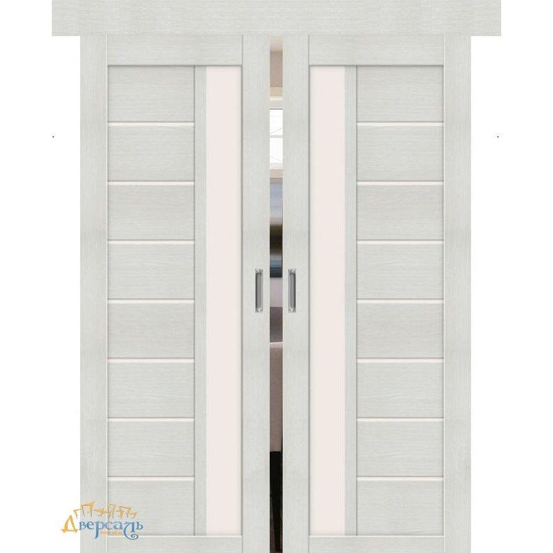 Двойная раздвижная дверь ПОРТА-27 bianco veralinga