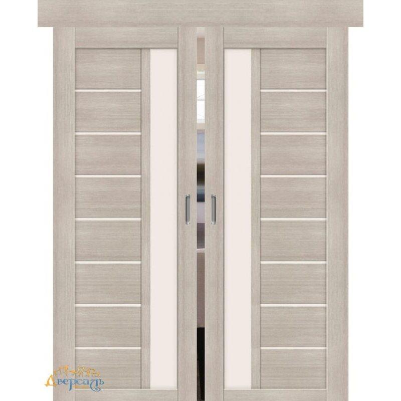 Двойная раздвижная дверь ПОРТА-27 cappuccino veralinga