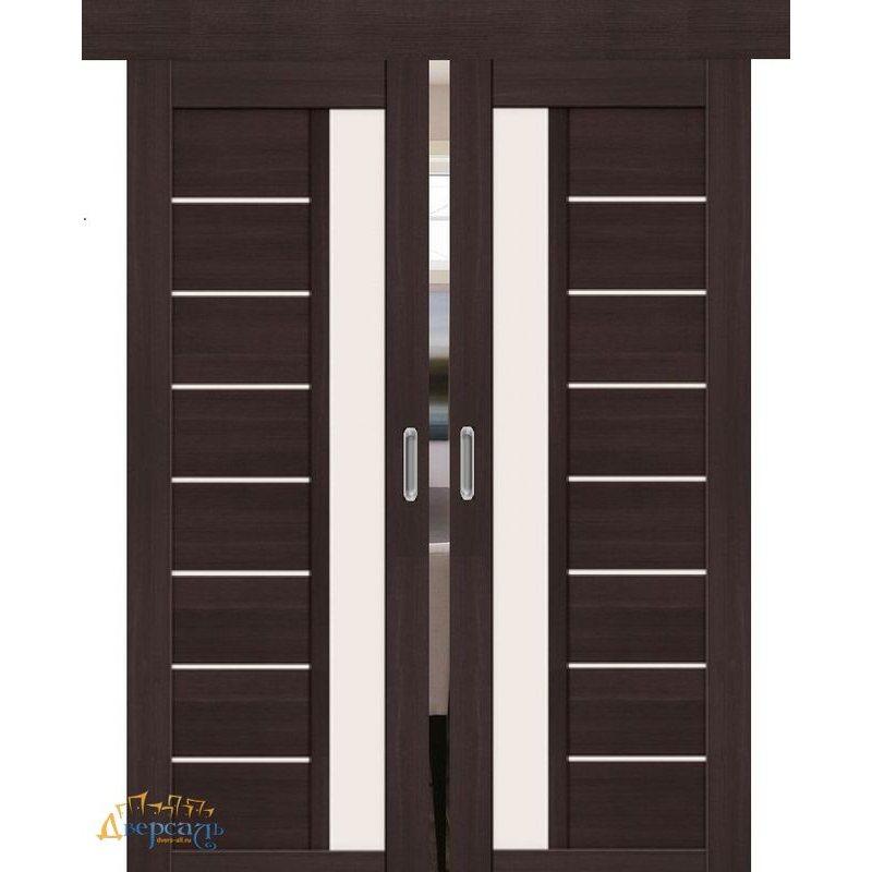 Двойная раздвижная дверь ПОРТА-27 wenge veralinga