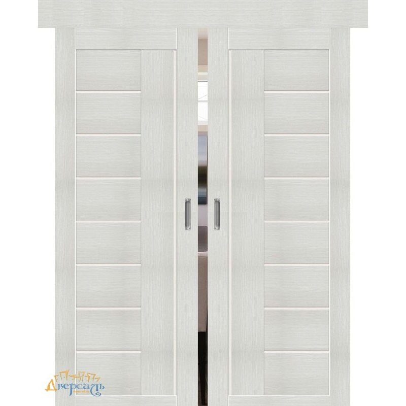 Двойная раздвижная дверь ПОРТА-29 bianco veralinga