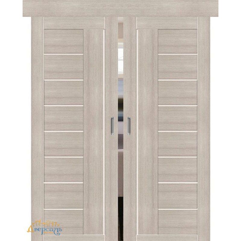 Двойная раздвижная дверь ПОРТА-29 cappuccino veralinga