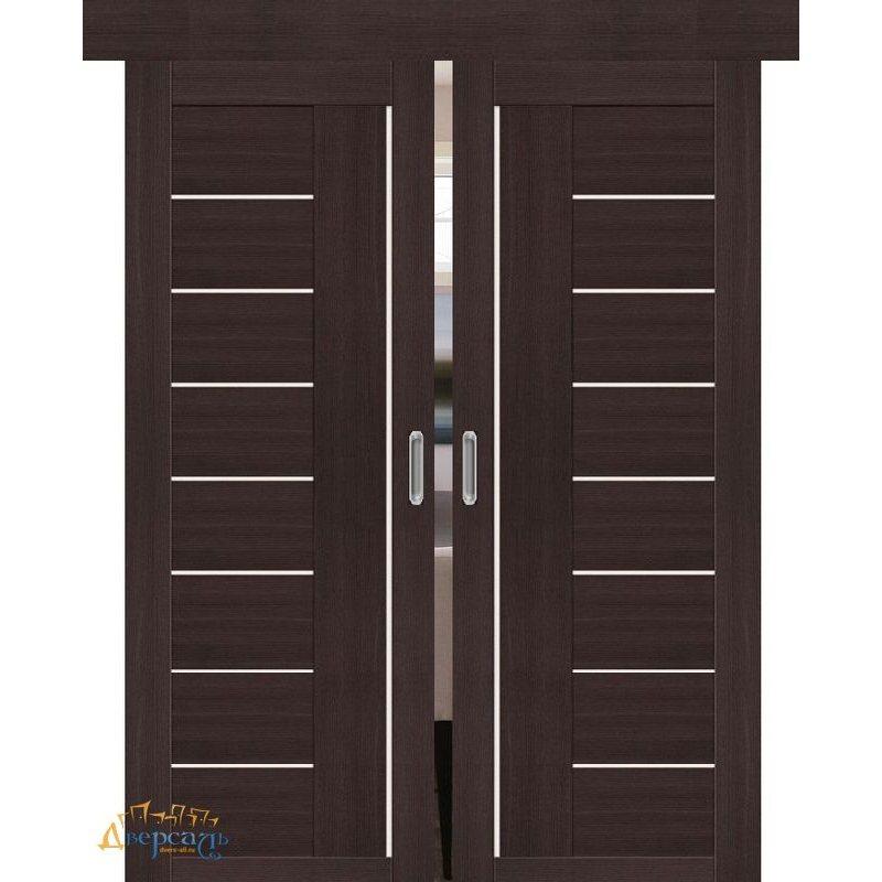 Двойная раздвижная дверь ПОРТА-29 wenge veralinga