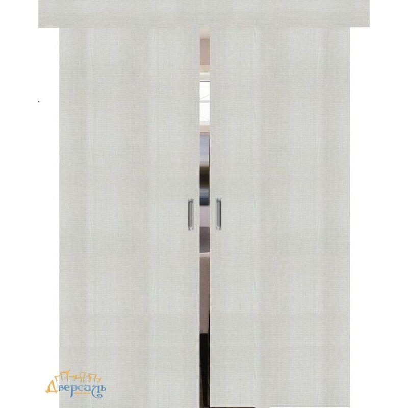 Двойная раздвижная дверь ПОРТА-50 bianco crosscut